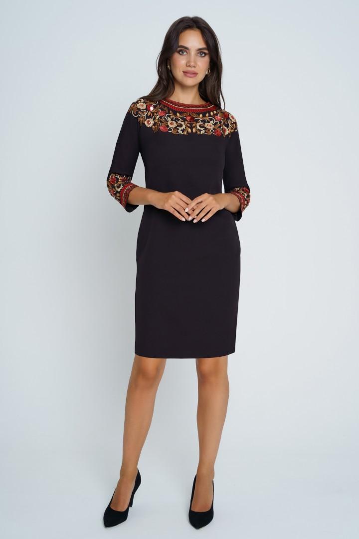 Платье Юрс 21-627-1 черный