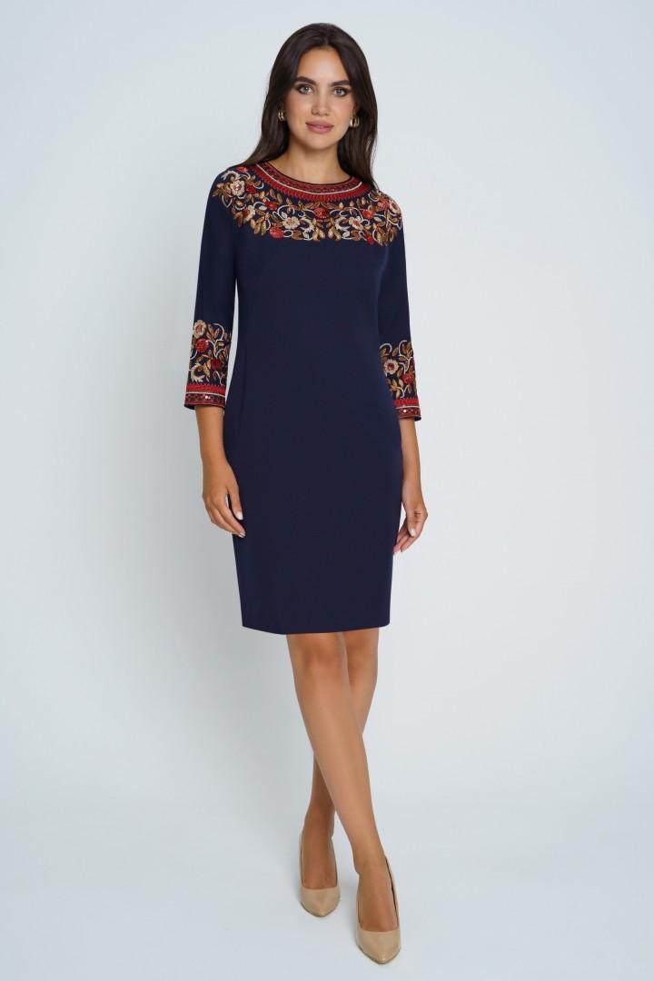 Платье Юрс 21-627-2 синий